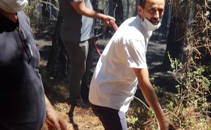 Arıcılarımız orman yangınına müdahalede bulundu